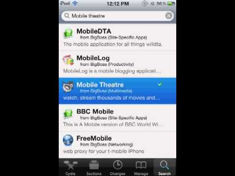 How to get movies on jail broken iPod touch