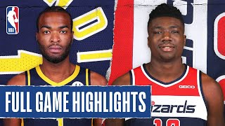 PACERS at WIZARDS | FULL GAME HIGHLIGHTS | August 3, 2020