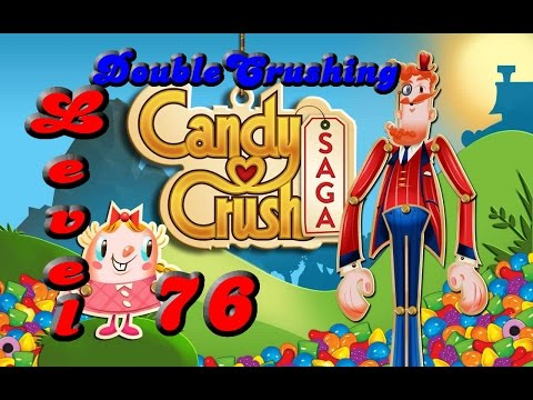 Candy Crush Saga Level 76 No Boosters 3 Stars! Tips Too!!