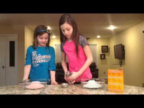 How to  make a Playdough Volcano. Using Vinegar and Baking Soda