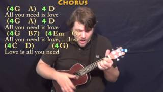 All You Need Is Love (The Beatles) Ukulele Cover Lesson with Chords/Lyrics