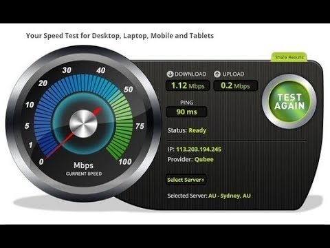 how to check internet speed in pc