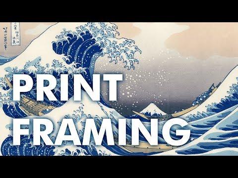 Japanese Woodblock Print Framing