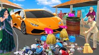 विशाल कार रोड की सफाई Giant Car Road Cleaning Wala Comedy हिंदी कहानिया Hindi Kahaniya Comedy Video
