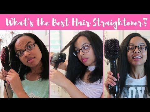 Which Hair Straightener is the Best? | Hair Straightening Brush vs Steam Brush vs Blow Dryer Brush
