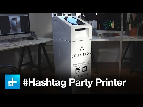 This printer searches Instagram for your #hashtag, then prints out free photos