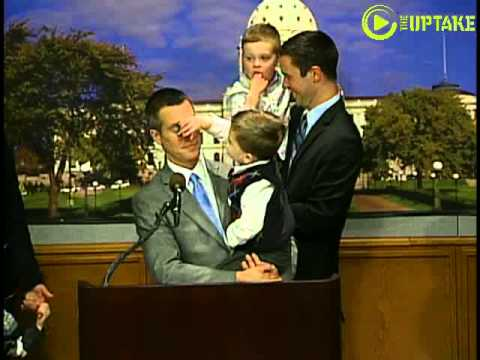 Cute Kids Upstage Gay Marriage News Conference