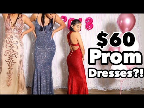 OMG I TRIED PROM DRESSES UNDER $100! | jasmeannnn