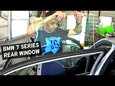 BMW E65 E66 REAR WINDOW GLASS REPLACEMENT REMOVAL