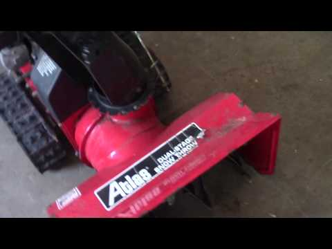 Making Several Repairs On A Snowblower Auger Box