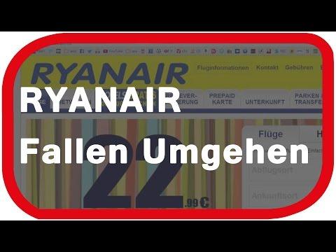 Ryanair - Fallen beim Online Check-In umgehen