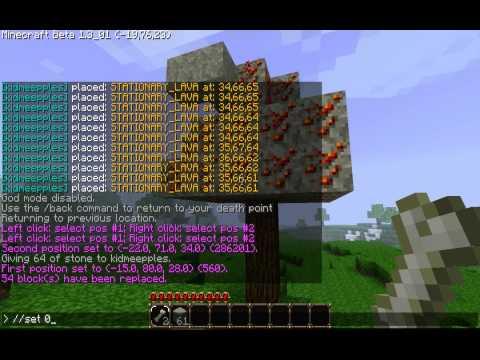 Minecraft World edit tutorial