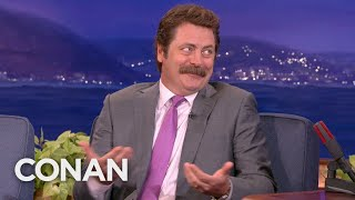 Nick Offerman: A Nun Showed Me Porn At Age 12 - CONAN on TBS