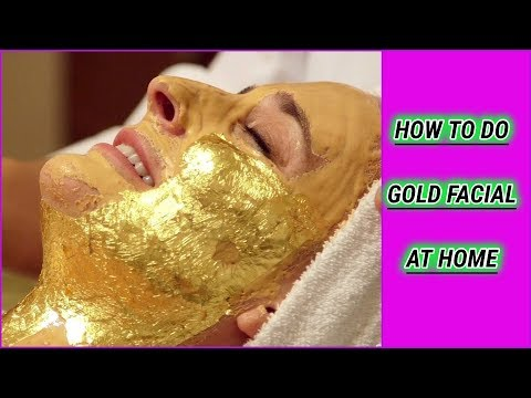 Gold Facial At Home/Diy/Very Easy And Effective