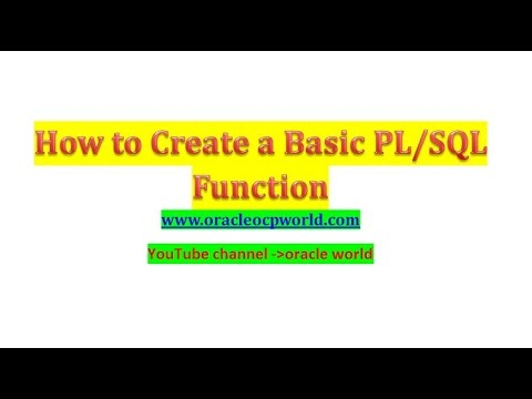 PL-SQL tutorial 5 How to create Basic PL/SQL Function in Oracle