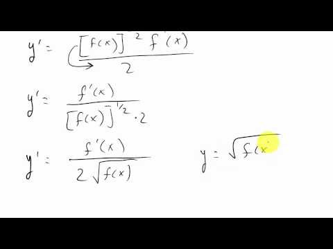 Shorcut For Finding Derivative of a Square Root Function