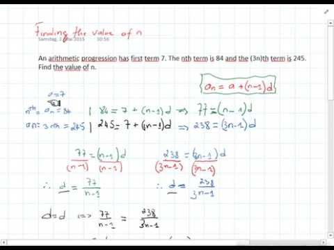 Finding the Value of n of an Arithmetic Sequence