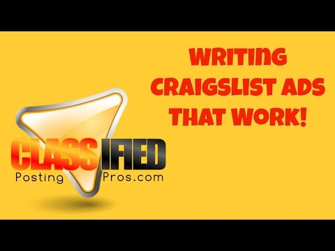 how to write a craigslist ad that works