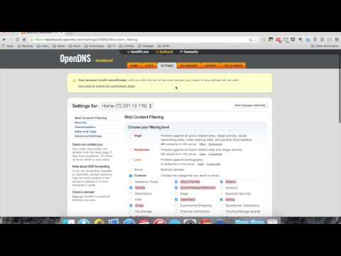 Parental Controls on your home network: opendns setup