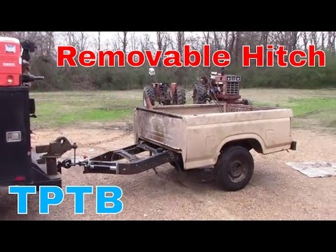 Removable trailer hitch build.
