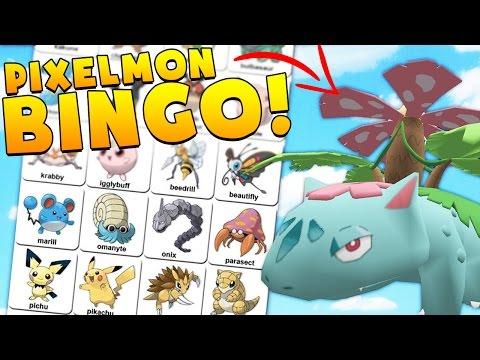 CATCHING A LEGENDARY!? Minecraft POKEMON BINGO CHALLENGE - Pixelmon Modded Minigame