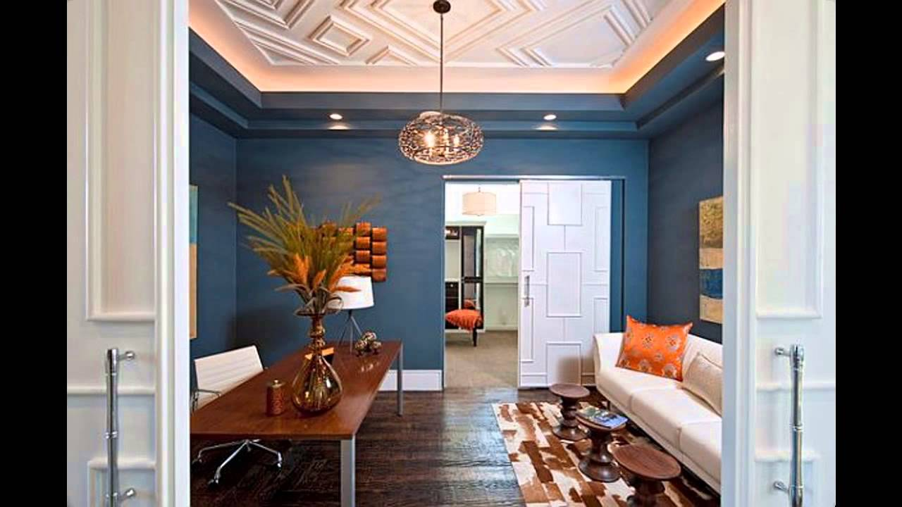 Home office wall color design and decorations