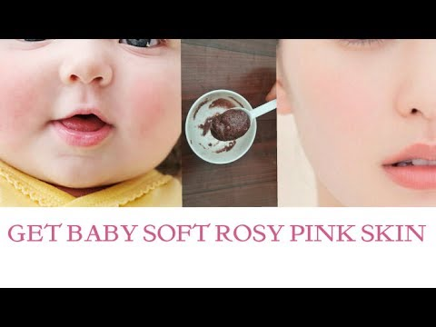 Get baby soft rosy Pink and milky White Glowing skin | rose milk face pack