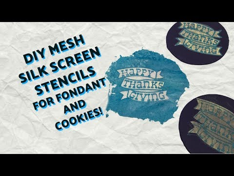 DIY Mesh Silk Screen Stencil for Fondant and Cookies! | Cakes and Crafts by Kass