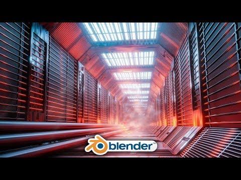 Download Blender - Easy Sci-fi Hallway Design in Eevee