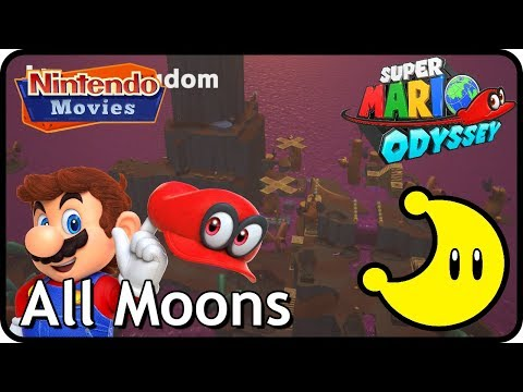 Super Mario Odyssey - Lost Kingdom - All Moons (in order with timestamps)