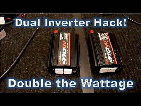 Parallel Inverters - Double the Power Hack!   Part1