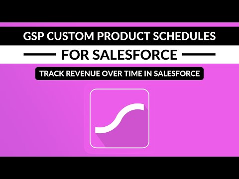 Custom Product Schedules Track Revenue Over Time In Salesforce