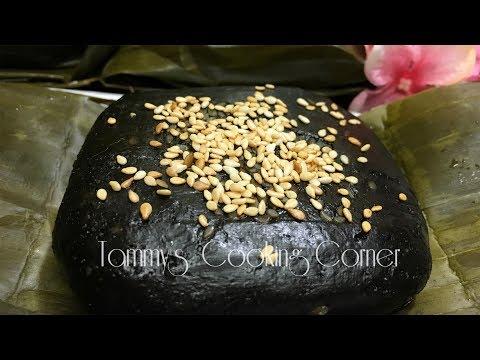 Bánh Gai (Bánh Ít Lá Gai Mè Đen) Hướng dẫn bằng tiếng Việt