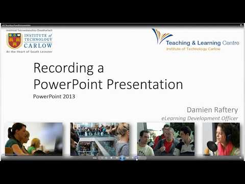Recording a PowerPoint Presentation