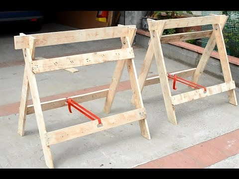 Sawhorses from pallets