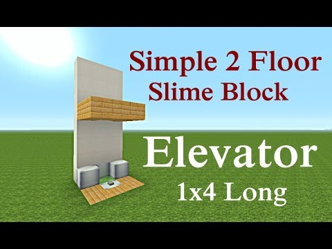 Minecraft Tutorial : Simple 2 Floor Slime Block Elevator