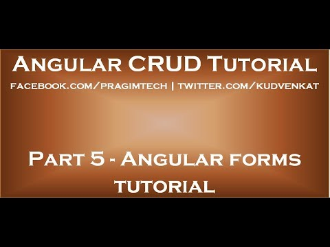 Angular forms tutorial