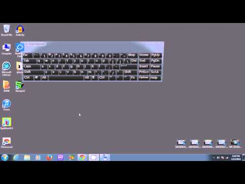 Opening On-Screen Keyboard for Windows 7 and Vista if your Keyboard is Broken. XP slightly different