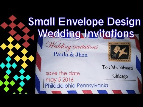 How to Make a Wedding Invitation Design Small Envelope with CorelDraw Software Part 1