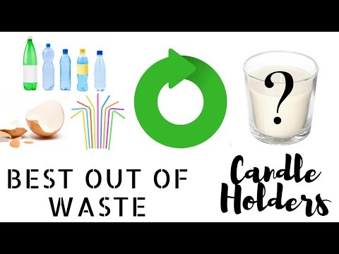 Best out of Waste Candle Holders Easy 3 Recycled Candle Holder Design Ideas DIY | by Fluffy HEdgehog