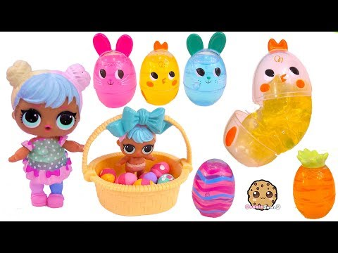 LOL Surprise Easter Egg Hunt ! Goo Putty + Shopkins Eggs Toy Video