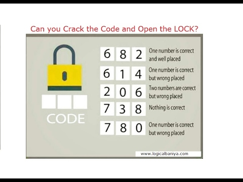Crack the Code and Open the Lock   This will Eat your Brain