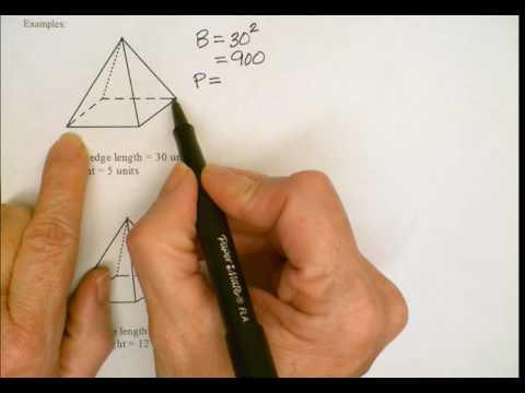 Surface Area and Volume of Square Pyramids