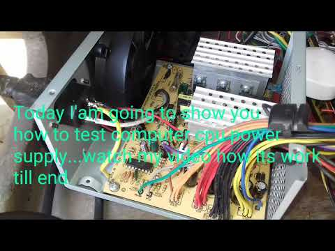 How to test computer power supply without multimeter