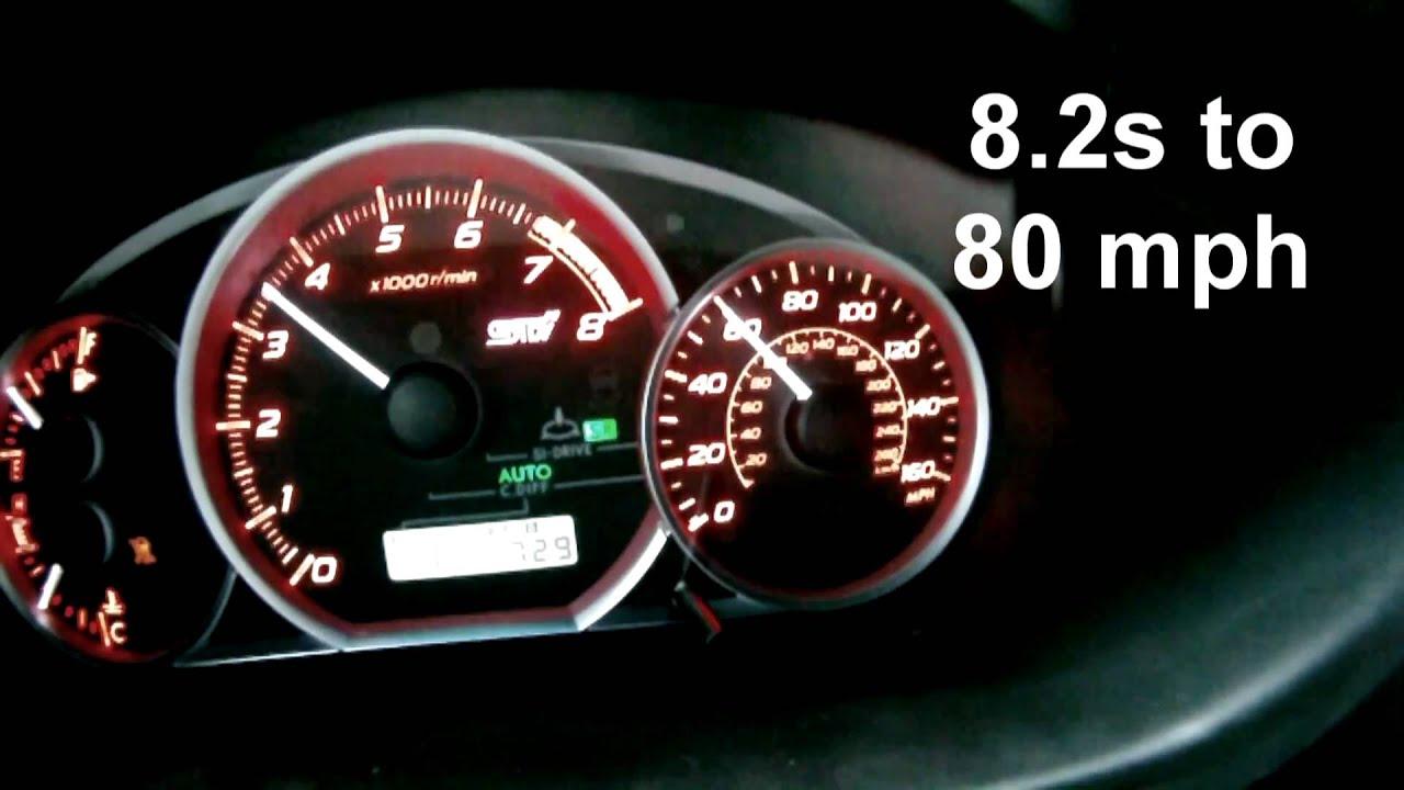 2011 Subaru STi acceleration 0-60, 0-120, 0-130mph.