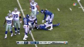 Giants DB Intercepts Pass From Dak Prescott, Absolutely Lays Out His Own Teammate During Runback