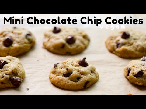 Mini Chocolate Chip Cookies (Vegan)