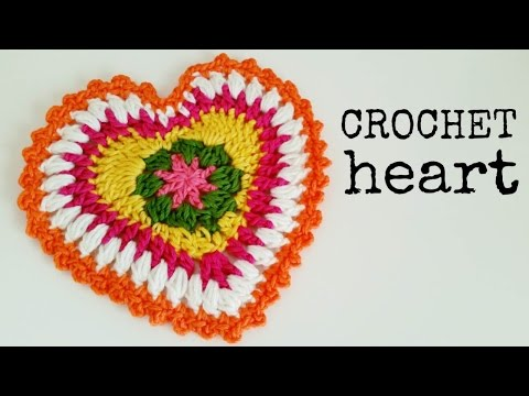 How to Crochet a HEART (great as POTHOLDER) ♥ CROCHET LOVERS