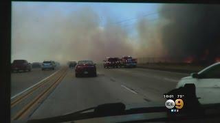 Crews Making Progress On Santa Clarita Brush Fire