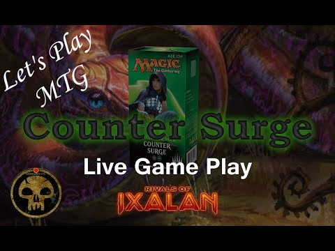 Let's Play MTG: Counter Surge Challenger Deck in a Competitive League in Rivals of Ixalan!